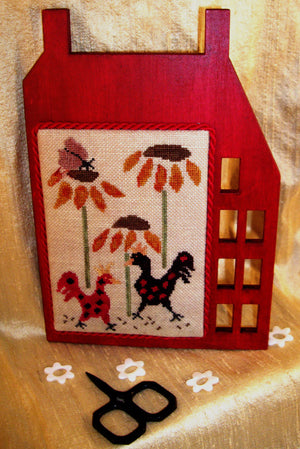 Salt Box Chickens - Cross Stitch Pattern