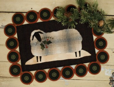 Cozy Fleece #210 Wool Applique Pattern for Penny Rug - Threads that Bind