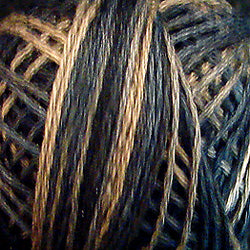 0111 Black Stone Hand Dyed Cotton 3 Strand Valdani