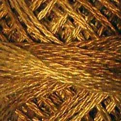 0154 Dark Antique Golds Hand Dyed Cotton 3 Strand Valdani