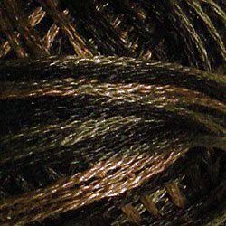 0531 Black Nut Hand Dyed Cotton 3 Strand Valdani