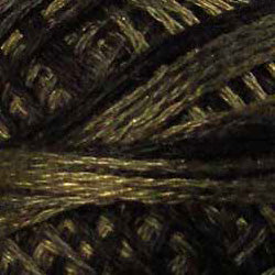 0540 Black Olive Hand Dyed Cotton 3 Strand Valdani