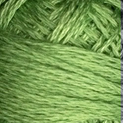 19 Deep Lime Hand Dyed Cotton 3 Strand Valdani
