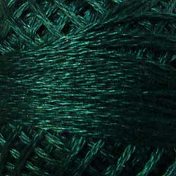 341 Dark Teal Hand Dyed Cotton 3 Strand Valdani