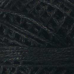 8113 Black Dark Hand Dyed Cotton 3 Strand Valdani