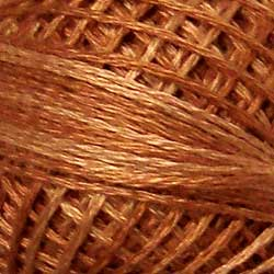 H206 Washed Orange Hand Dyed Cotton 3 Strand Valdani Heirloom