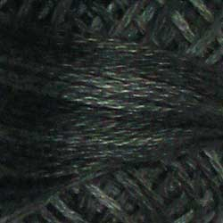 H211 Blue Black Hand Dyed Cotton 3 Strand Valdani Heirloom
