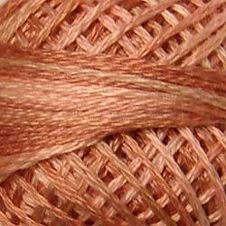 JP5 Nantucket Rose Hand Dyed Cotton 3 Strand Valdani Muddy Monet