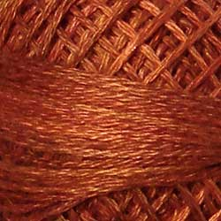 P6 Rusted Orange Hand Dyed Cotton 3 Strand Valdani Vintage