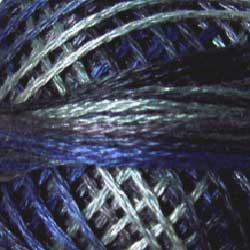 P7 Withered Blue Hand Dyed Cotton 3 Strand Valdani Vintage