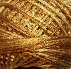 0154 Dark Antique Golds Hand Dyed Cotton 12wt Valdani