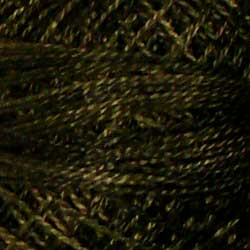 0540 Black Olive Hand Dyed Cotton 12wt Valdani