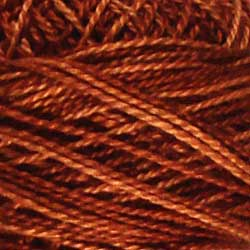 H201 Rust Hand Dyed Cotton 12wt Valdani Heirloom