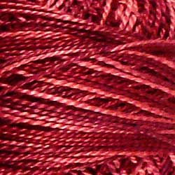 H204 Nostalgic Rose Hand Dyed Cotton 12wt Valdani Heirloom