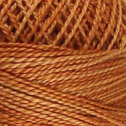 H206 Washed Orange Hand Dyed Cotton 12wt Valdani Heirloom
