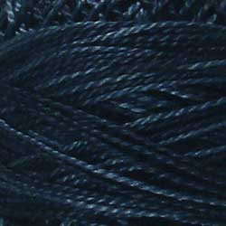 H207 Darkened Blue Hand Dyed Cotton 12wt Valdani Heirloom