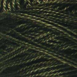 H209 Khaki Black Hand Dyed Cotton 12wt Valdani Heirloom