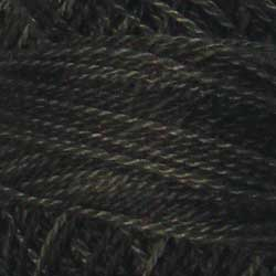 H211 Blue Black Hand Dyed Cotton 12wt Valdani Heirloom