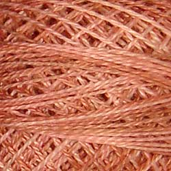 JP5 Nantucket Rose Hand Dyed Cotton 12wt Valdani Muddy Monet