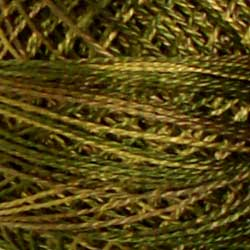 P2 Olive Green Hand Dyed Cotton 12wt Valdani Vintage
