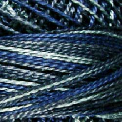 P7 Withered Blue Hand Dyed Cotton 12wt Valdani Vintage