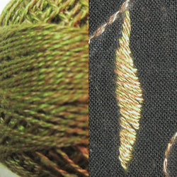 PT2 Beige Green Twisted Tweed Hand Dyed Cotton 12wt Valdani