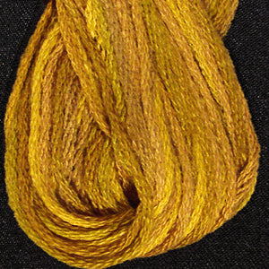 P5Tarnished Gold Hand Dyed Cotton Embroidery Thread 6-ply Valdani