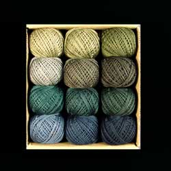 AS TIME GOES BY - SET 3 -  Shaded Hand Dyed Cotton 3 Strand Valdani