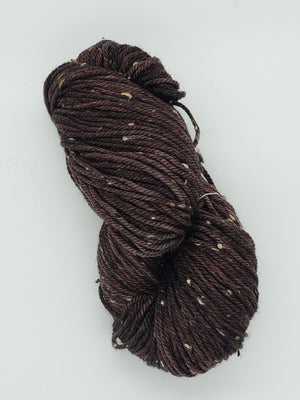 Bramble Tweedy - WOODS -  OOAK Worsted Hand Dyed Yarn