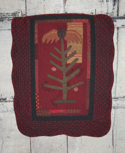 Country Christmas Wool Applique Pattern