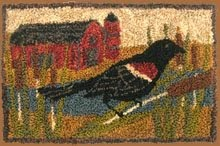 Red Wing Blackbird - Punch Needle Pattern