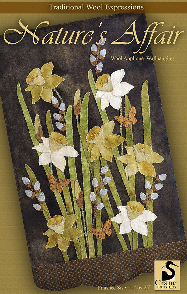 NATURE'S AFFAIR - Wool Applique Pattern - Wall Hanging