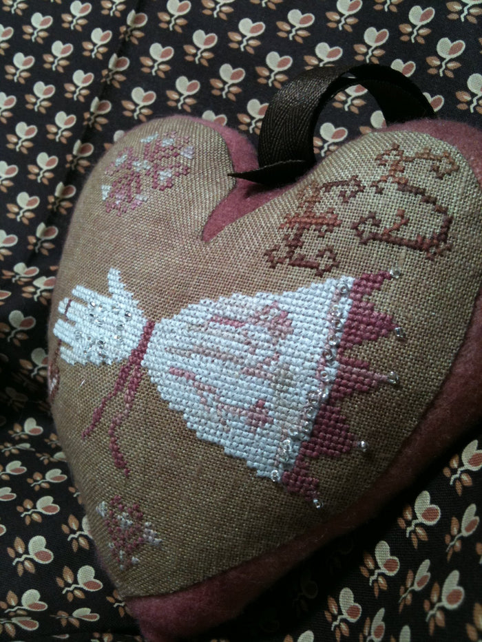 Eliza's Heart - Cross Stitch Pattern/Kit for Stuffie/Pincushion