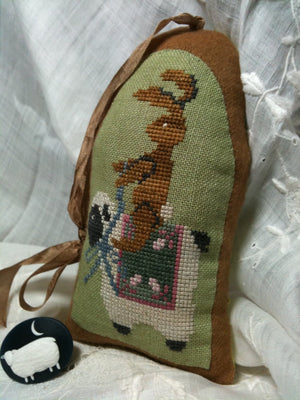 Lazy Hare Scissor Holder - Cross Stitch Pattern for Stuffie/Pincushion