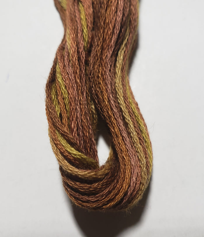 04122 Bark Moss Hand Dyed Cotton Embroidery Thread 6-ply Valdani