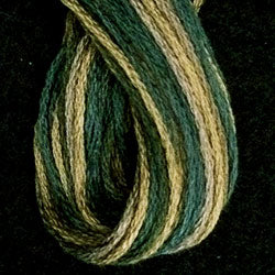 M19 Olives Hand Dyed Cotton Embroidery Thread 6-ply Valdani