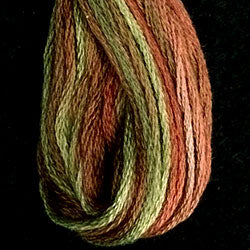 M78 Copper Leaves Hand Dyed Cotton Embroidery Thread 6-ply Valdani