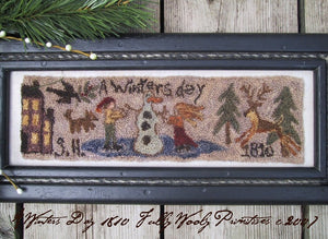 A Winter's Day 1810 - #1907 - Punch Needle Paper or Digital Pattern