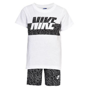 Children's Sports Outfit Nike 926-023 Vit Svart