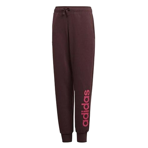 Children's Tracksuit Bottoms Adidas YG Linear Röd (Storlek 14-16 år eu - 170 uk)