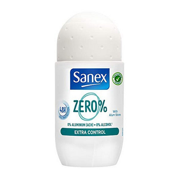 Roll-on deodorant Zero% Extra-control Sanex (50 ml)