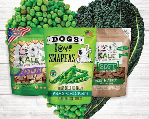 Dogs Love Kale treats are made with limited ingredients