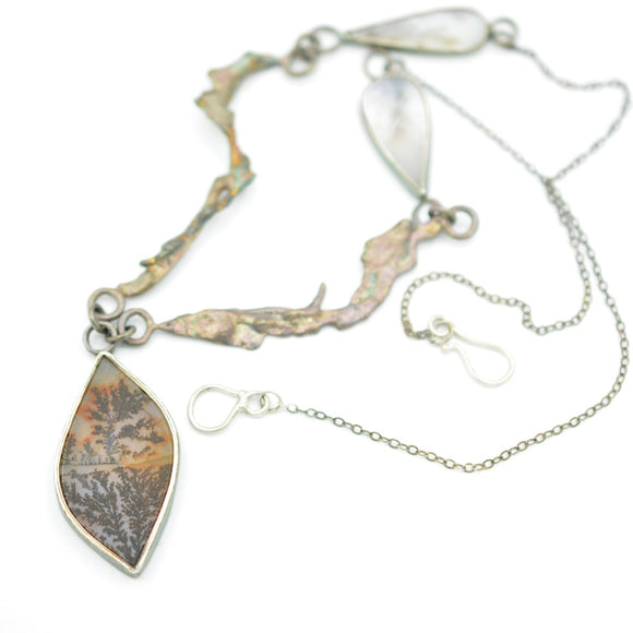 Dendritic Agate Fused Necklace