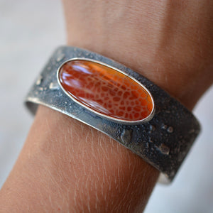 Snakeskin Agate Topography Cuff