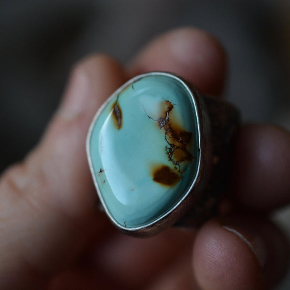 Turquoise Topography Ring, Size 7