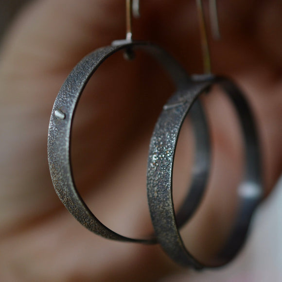 Kinetic Axis Hoop Earrings