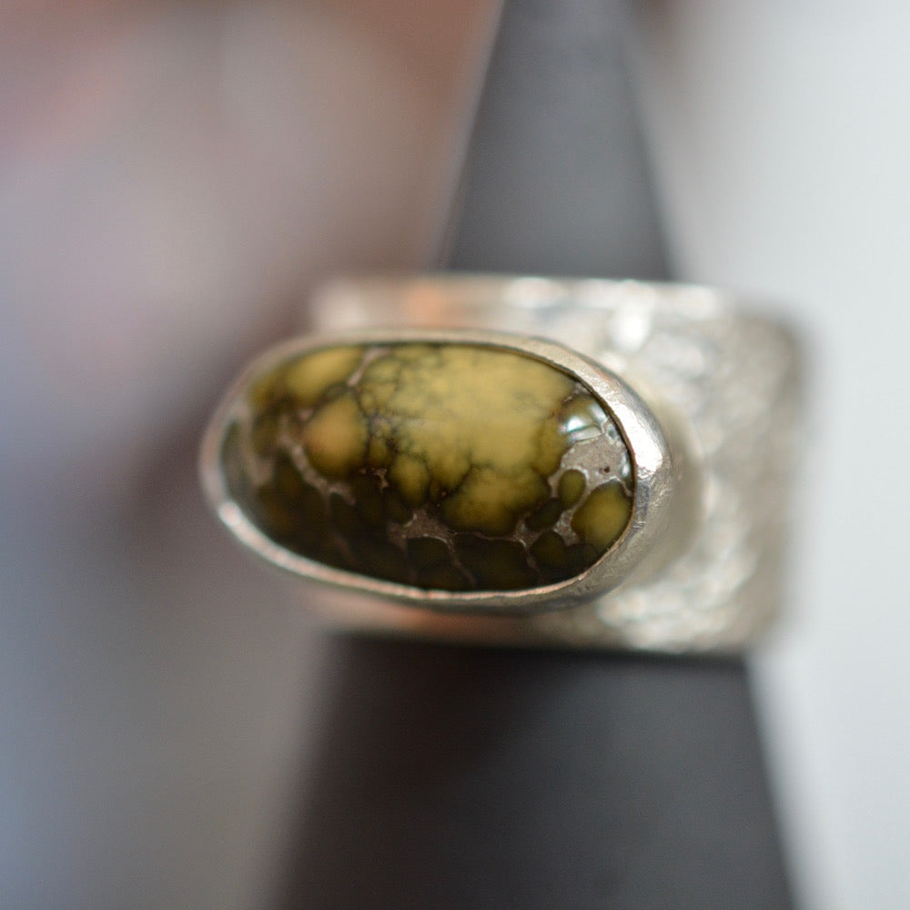 Golden Damele Topography Ring
