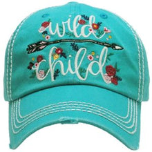 Load image into Gallery viewer, Wild Child Washed Vintage Ball Cap