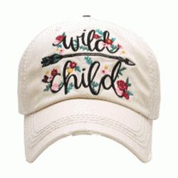 Wild Child Washed Vintage Ball Cap