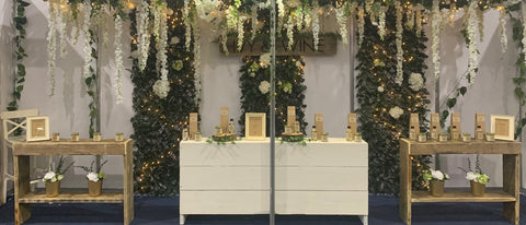 ivy and twine candles stand at glasgow trade show